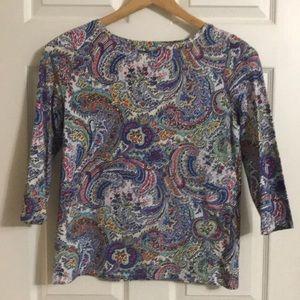 Talbots 3/4 sleeve shirt
